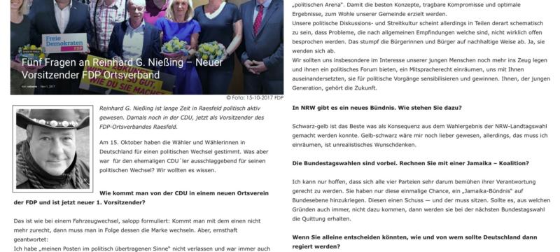 5 Fragen an Reinhard Nießing