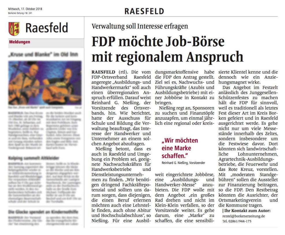 FDP Job-Börse mit regionalem Anspruch