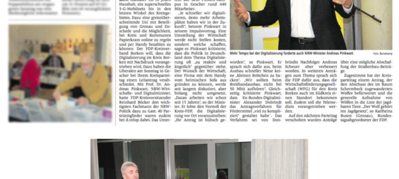FDP und Andreas Pinkwart fordern mehr-Tempo bei der Digitalisierung